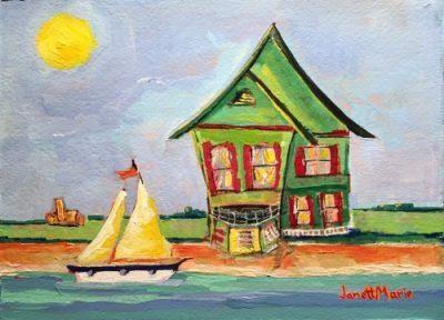 1047 Hope Street - Painting by JanettMarie