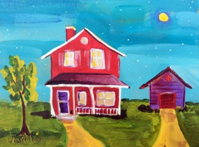 2246 Hope Street - Painting by JanettMarie