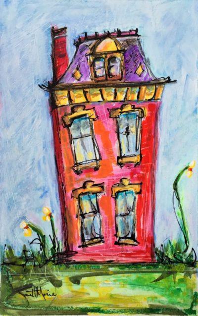 358 Hope Street - Painting by JanettMarie