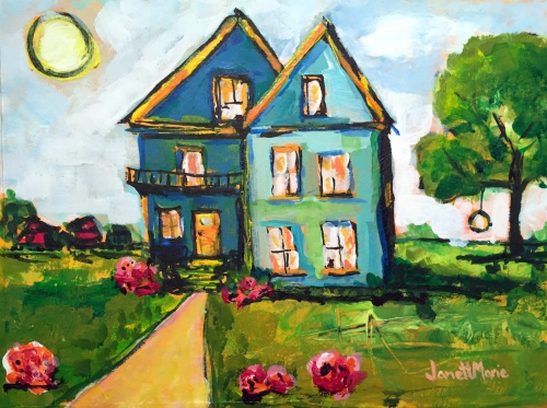 6529 Hope Street - Painting by JanettMarie