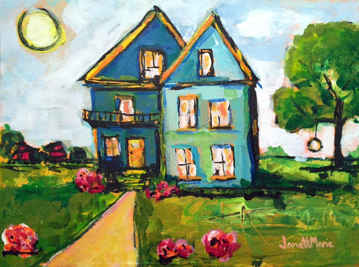 6529 Hope Street - Painting by JanettMarie