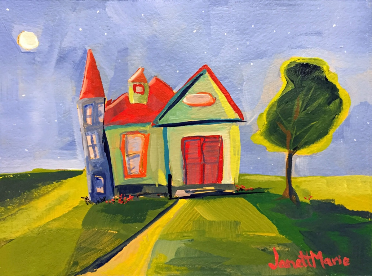 7010 Hope Street - Painting by JanettMarie