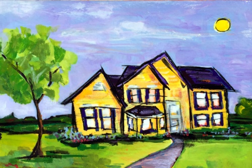 9416 Hope Street - Painting by JanettMarie