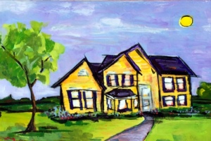 9416 Hope Street - Painting by JanettMarie