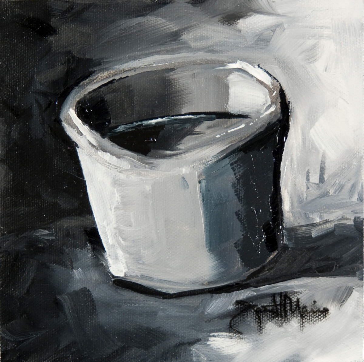 Basic Cup - Painting by JanettMarie