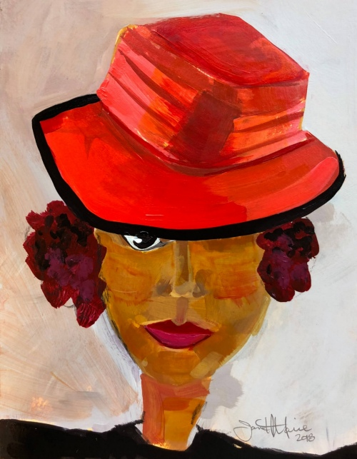 Faith Modigliani - Painting by JanettMarie