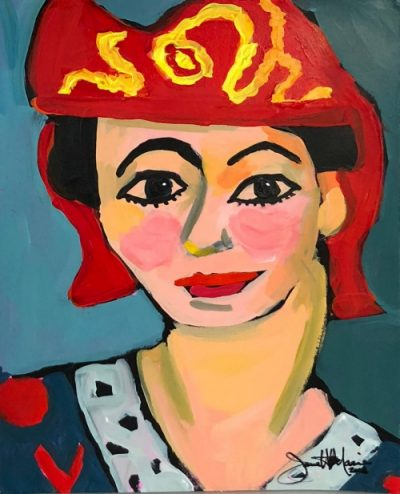 Homage To Matisse - Painting by JanettMarie