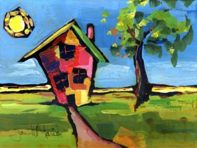 House In Kansas - Painting by JanettMarie