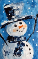 Hurray for Snow - Painting for JanettMarie