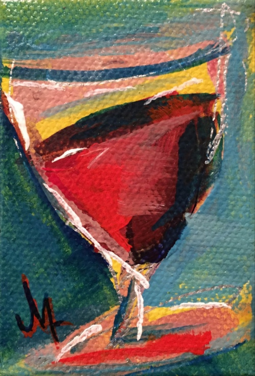 Little Wine - Painting by JanettMarie