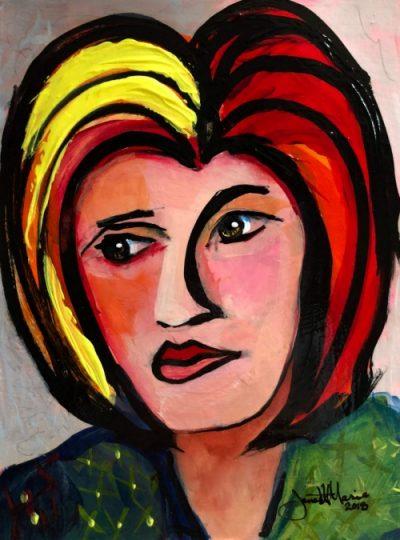 Meet Me In Paris - Painting by JanettMarie