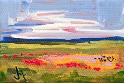 Mini Landscape - Painting by JanettMarie