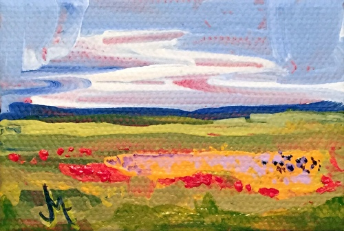Mini Landscape - Painting by JanettMarie