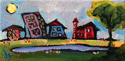 Mini Urban Landscape - Paintings by JanettMarie