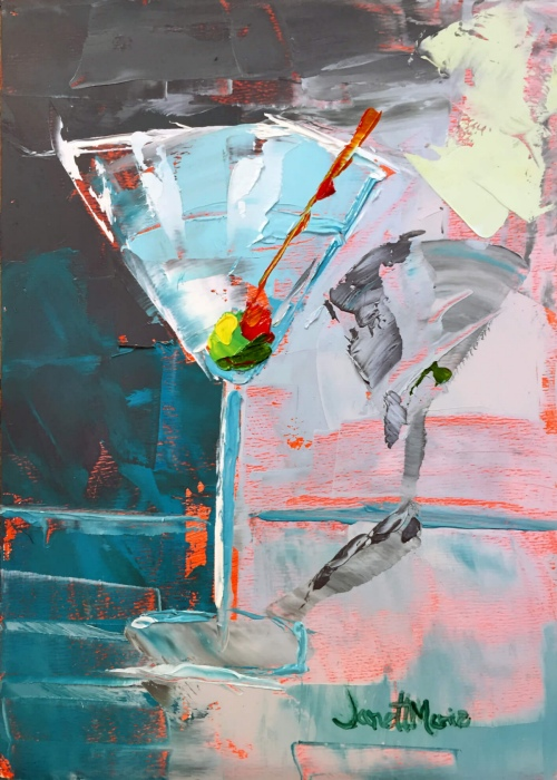Palette Martini - Painting by JanettMarie