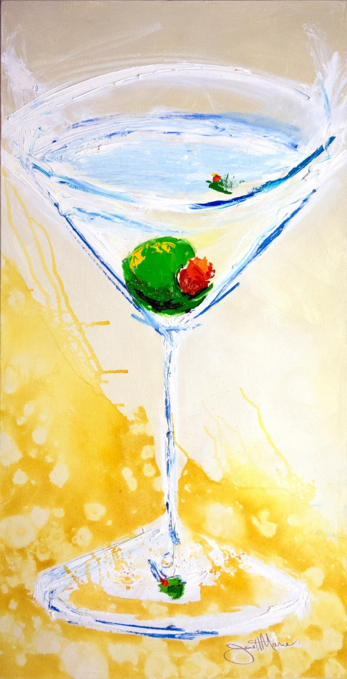 Perfect Martini - Painting by JanettMarie