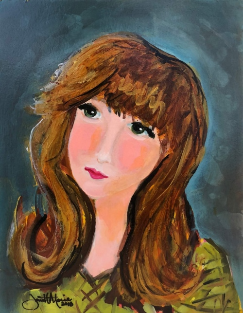 Sarah Jane - Painting by JanettMarie