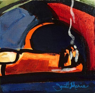 Short Cigar - Painting by JanettMarie