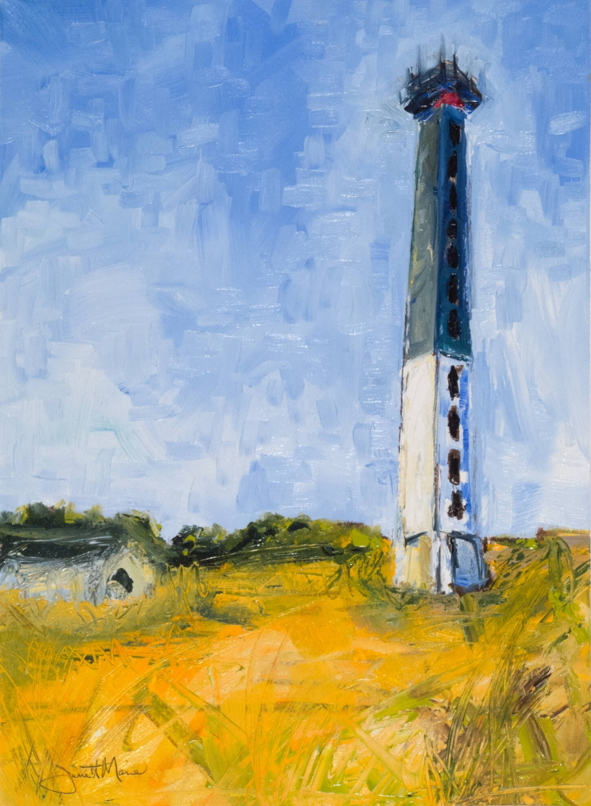 Sullivan's Island Lighthouse - Paintings by JanettMarie