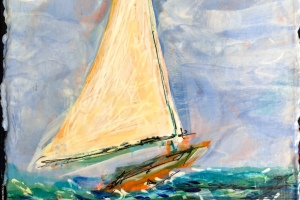 Sure Sailing - Painting by JanettMarie