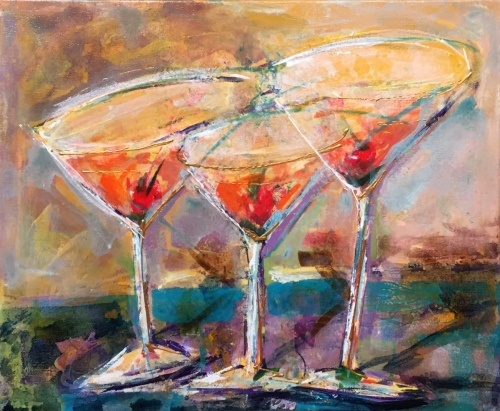 Three Cheers! - Painting by JanettMarie