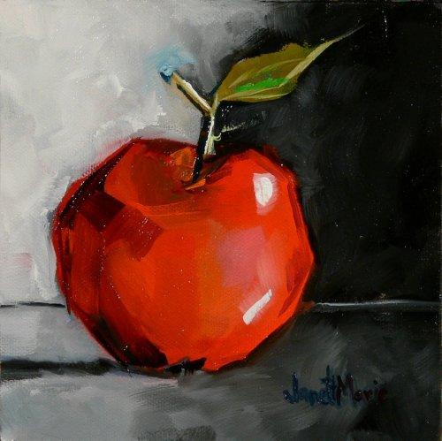 Winesap Number 33 - Painting by JanettMarie